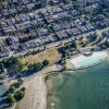Kits Pool in Kitsilano from the air